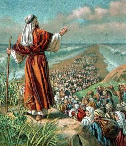 Moses leading Israel